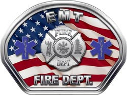 EMT Helmet Face Decal (REFLECTIVE)