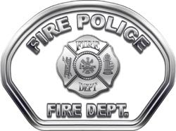 Fire Police Helmet Face Decal (REFLECTIVE)