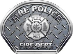 Fire Police Helmet Face Decal (REFLECTIVE) Diamond Plate