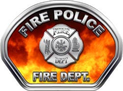 Fire Police Firefighter Helmet Face Decal (REFLECTIVE) Real Fire