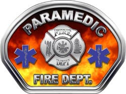 Paramedic Helmet Face Decal (REFLECTIVE) Real Fire