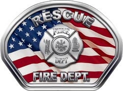 Rescue Helmet Face Decal (REFLECTIVE) American Flag