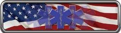 "Reflective American Flag EMS Helmet Marker 1""H x 4""W"