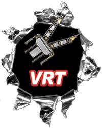 Mini Ripped Torn Metal Decal VRT Vehicle Rescue Team
