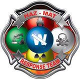 Hazmat Maltese Cross Fire Rescue Decal