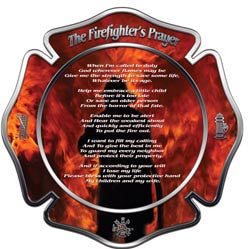 Firemans Prayer Maltese Cross Decal