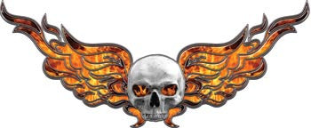Flying Skull Decal Inferno