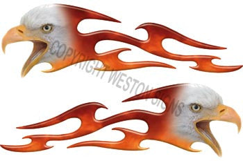 Tribal Real Fire Eagle Flames