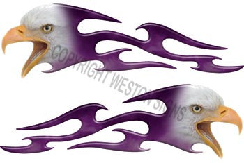 Tribal Purple Eagle Flames
