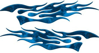 Extreme Flames Ghost Skulls Blue