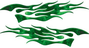 Extreme Flames Ghost Skulls Green