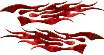 Extreme Flames Ghost Skulls Red