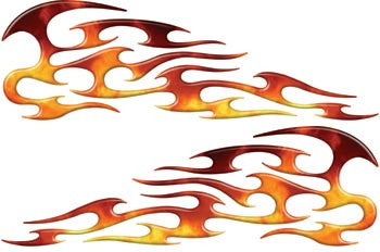 Real Fire Tribal Motorcycle Gas Tank Custom Digitally Airbrushed Flames