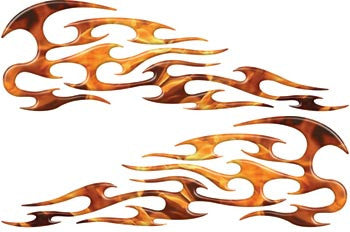 Inferno Tribal Motorcycle Gas Tank Custom Digitally Airbrushed Flames