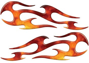 Real Fire Tribal Motorcycle Side Cover, Tank or Helmet Custom Digitally Airbrushed Flames
