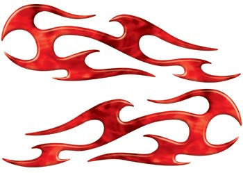 Red Inferno Tribal Motorcycle Side Cover, Tank or Helmet Custom Digitally Airbrushed Flames