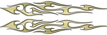 Gold Thin Tribal Accent Flames