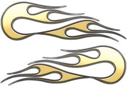 Gold Old School Style Flames