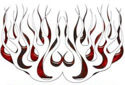 Red Inferno Old School Retro Style Flames