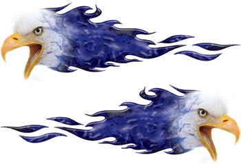 Inferno Bald Eagle Flames Blue