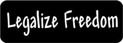 Legalize Freedom Biker Helmet Sticker