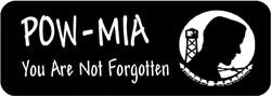 POW-MIA You are not forgotten Biker Helmet Sticker