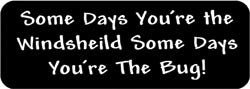 Some days you're the windsheild some days you're the bug! Biker Helmet Sticker