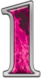 Reflective Number 1 with Inferno Pink Flames