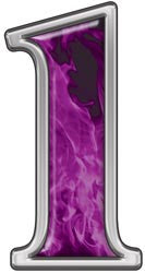 Reflective Number 1 with Inferno Purple Flames