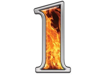 Reflective Number 1 with Inferno Flame