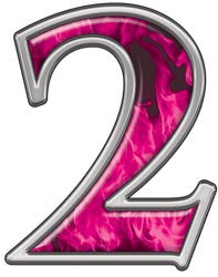 Reflective Number 2 with Inferno Pink Flames