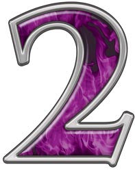 Reflective Number 2 with Inferno Purple Flames