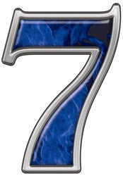 Reflective Number 7 with Inferno Blue Flames