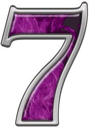 Reflective Number 7 with Inferno Purple Flames