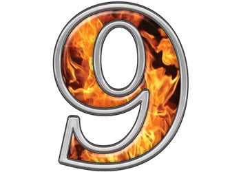 Reflective Number 9 with Inferno Flame