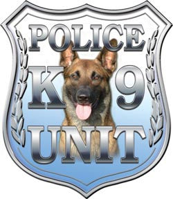 Police Shield K9 Unit Blue