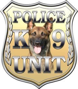 Police Shield K9 Unit Gold