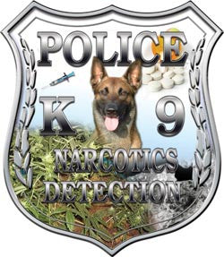 Police Shield K9 Unit Narcotics Detection