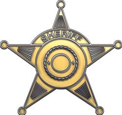 5 Point Sheriff Star in Gold