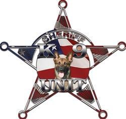 5 Point Sheriff Star K9 Unit American Flag