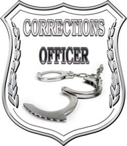 Corrections Officer Badge Decal Wtih Handcuffs