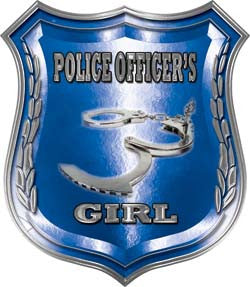 Law Enforcement Police Shield Badge Police Officer's Girl Decal