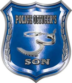 Law Enforcement Police Shield Badge Police Officer's Son Decal