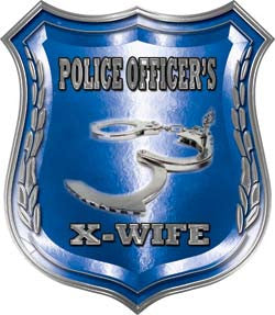 Law Enforcement Police Shield Badge Police Officer's X-Wife Decal