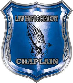 Law Enforcement Chaplain Police Shield Badge