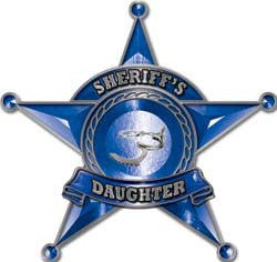 Law Enforcement 5 Point Star Badge Sheriff's Daughter Decal