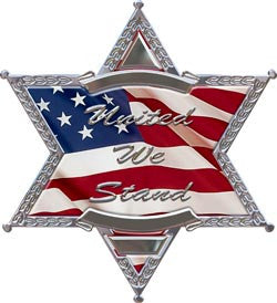 United We Stand Police/Sheriff 6 Point Star
