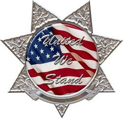 United We Stand 7 Point Star Police Decal