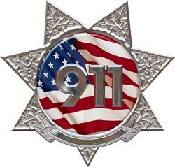 7 Point Star Police 911 Decal
