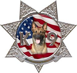 7 Point Star Police K9 Decal